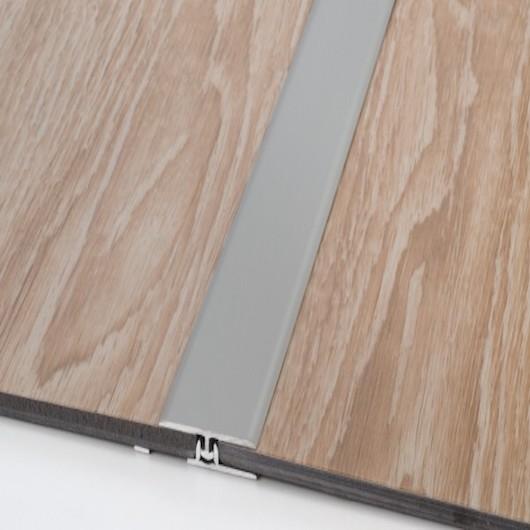 Profili di dilatazione/raccordo/terminale in alluminio coordinato con base PVC inclusa – barre da 2,70 mtl