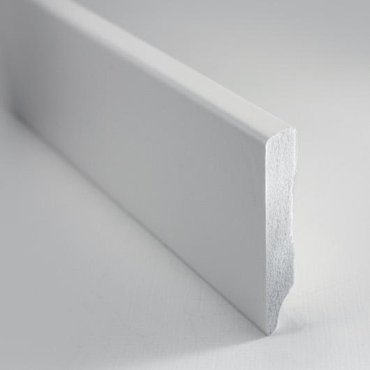 Battiscopa Bianco in PVC 50×10 mm – barre da 240cm