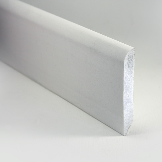 Battiscopa Bianco Verniciabile in PVC 70×14 mm – barre da 250cm