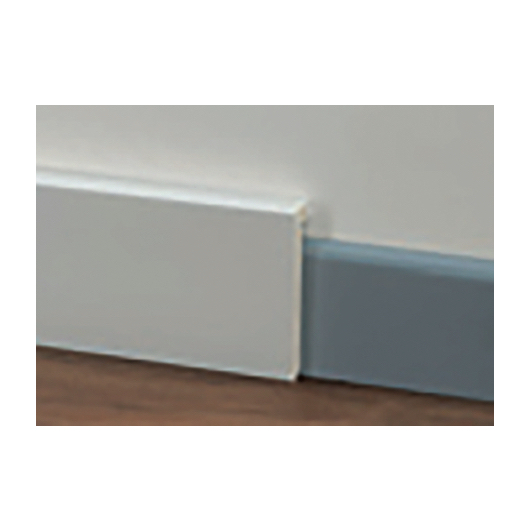 Battiscopa Cover in PVC bianco 90×20 mm