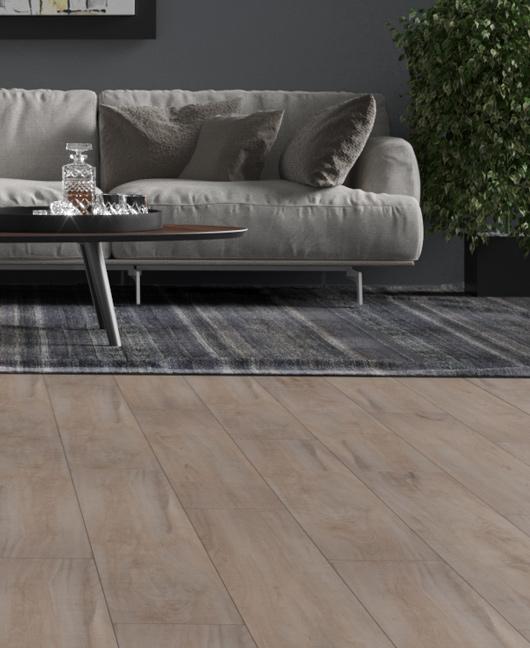 Il calore del legno e della pietra senza rimuovere il vecchio pavimento