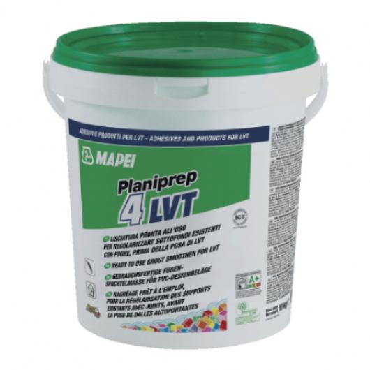 Planiprep 4 LVT: lisciatura a bassissima emissione pronta all'uso per regolarizzare sottofondi esistenti con fughe prima della posa di LVT autoposanti