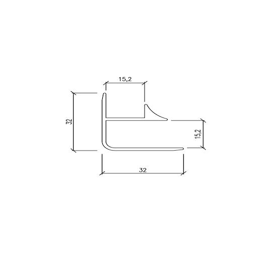 Profilo angolare interno/esterno 32×32 cm – barre da 3 mtl